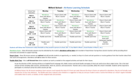 Grade 7/8 At-Home Learning Schedule and Parent/Student Guide